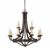 Savoy House Lighting (1-2013-12-05) Elba 12 Light Chandelier in Oiled Copper Finish, Designed by Brian Thomas