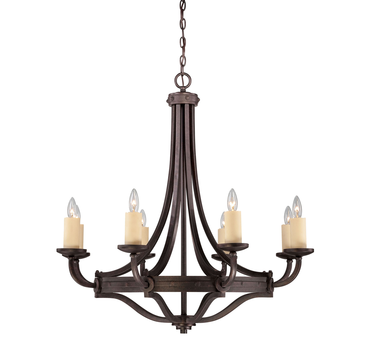 Savoy House Lighting (1-2012-8-05) Elba 8 Light Chandelier in Oiled Copper Finish, Designed by Brian Thomas