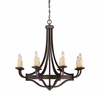 Savoy House (1-2012-8-05) Elba 8 Light Chandelier in Oiled Copper Finish