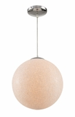 "Urban Crush 12"" Globe Pendant shown in Polished Chrome by Trans Globe Lighting"