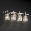 Justice Design (GLA-8564) Arcadia 4-Light Bath Bar from the Veneto Luce Collection