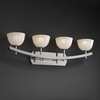 Justice Design (GLA-8594) Archway 4-Light Bath Bar from the Veneto Luce Collection