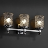 Justice Design (GLA-8533) Deco 3-Light Bath Bar from the Veneto Luce Collection