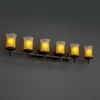 Justice Design (GLA-8536) Deco 6-Light Bath Bar from the Veneto Luce Collection
