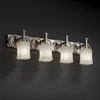 Justice Design (GLA-8584) Heritage 4-Light Bath Bar from the Veneto Luce Collection