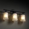 Justice Design (GLA-8523) Tradition 3-Light Bath Bar from the Veneto Luce Collection