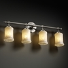 Justice Design (GLA-8524) Tradition 4-Light Bath Bar from the Veneto Luce Collection