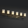 Justice Design (GLA-8526) Tradition 6-Light Bath Bar from the Veneto Luce Collection