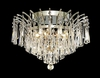 Elegant Lighting (8032F16) Victoria 6-Light 16 Inch Crystal Ceiling Mount shown in Chrome Finish