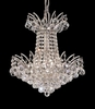 Elegant Lighting (8031D16) Victoria 4-Light 16 Inch Dining Room Crystal Fixture shown in Chrome Finish