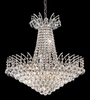 Elegant Lighting (8031D24) Victoria 11-Light 24 Inch Dining Room Crystal Fixture shown in Chrome Finish