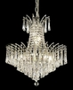 Elegant Lighting (8032D19) Victoria 8-Light 19 Inch Dining Room Crystal Fixture shown in Chrome Finish