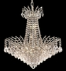 Elegant Lighting (8033D24) Victoria 11-Light 24 Inch Dining Room Crystal Fixture shown in Chrome Finish