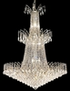 Elegant Lighting (8033G32) Victoria 18-Light 32 Inch Foyer/Hallway Crystal Fixture shown in Chrome Finish