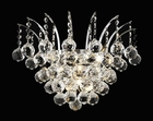 "Elegant Lighting (8031W16) Victoria 3-Light 16"" Crystal Sconce shown in Chrome Finish"