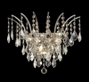 Elegant Lighting (8033W16) Victoria 3-Light 16 Inch Crystal Sconce shown in Chrome Finish