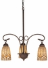 "Meyda Tiffany (74051) 20.5""W Tiffany Acorn 3 Light Chandelier"