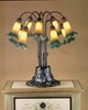 "Meyda Tiffany (14357) 22""H Amber/Green Pond Lily 10 Light Table Lamp"