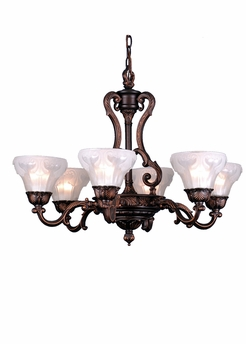 "Meyda Tiffany (80114) 28.5"" Geneve 6 Light Chandelier"