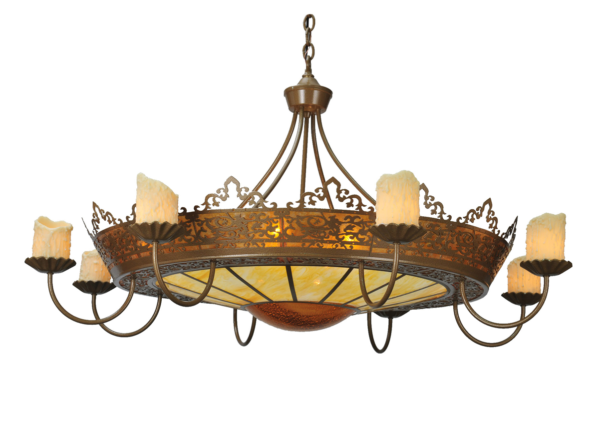 "Meyda Tiffany (99367) 47""W Stanley 8 Arm Chandelier"