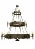 Meyda Tiffany (112084) 72 Inch Width Warwick 21 Light Three Tier Chandelier