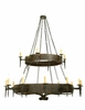 "Meyda Tiffany (112829) 72""W Warwick 18 Light Two Tier Chandelier"