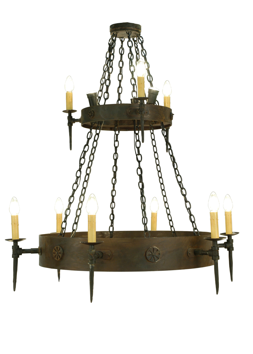 Meyda Tiffany (112813) 47 Inch Width Warwick 12 Light Two Tier Chandelier