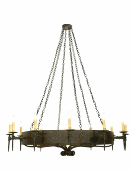 "Meyda Tiffany (112814) 72""W Warwick 12 Light Chandelier"