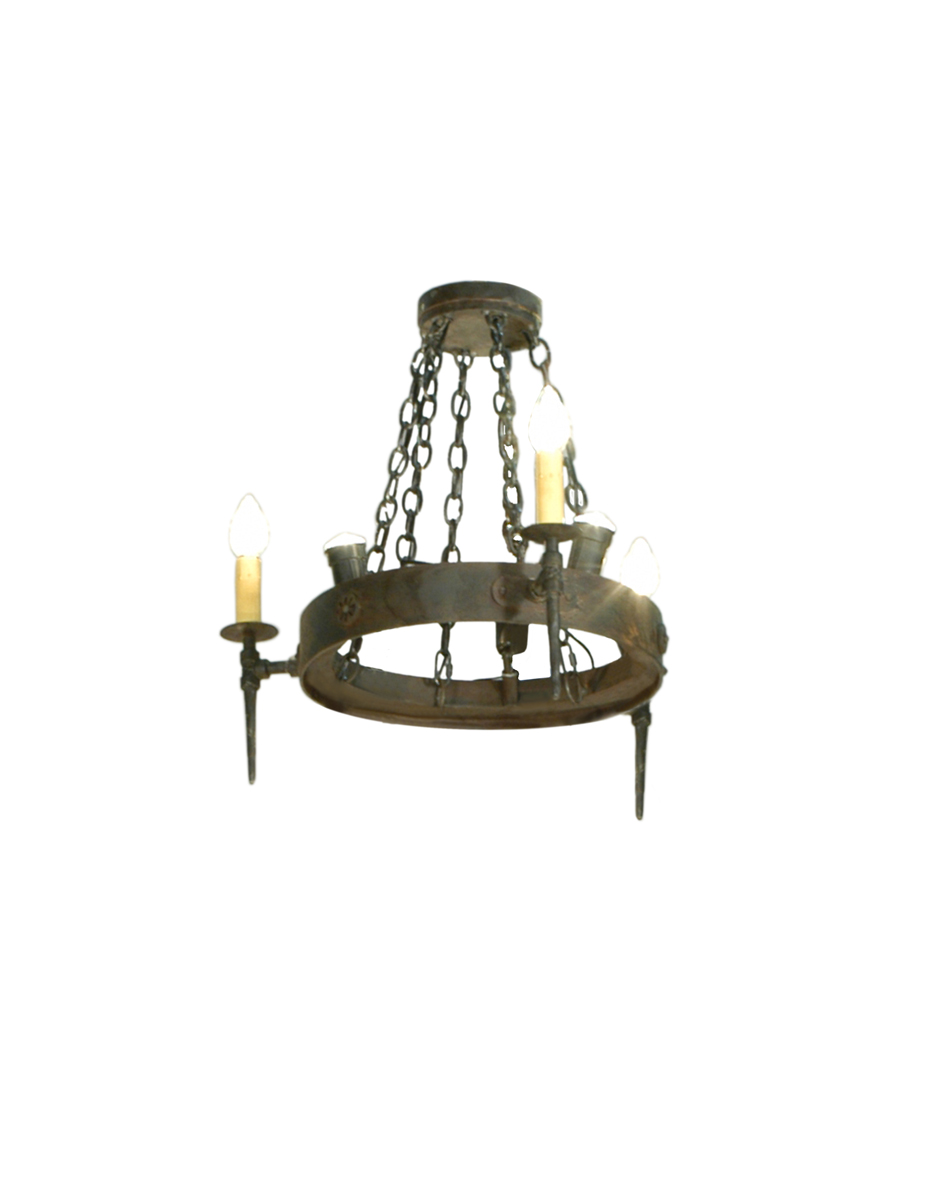 Meyda Tiffany (112811) 27 Inch Width Warwick 6 Light with Uplight Chandelier
