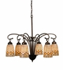 "Meyda Tiffany (18781) 27.5""W Tiffany Acorn 6 Light Chandelier"