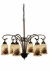"Meyda Tiffany (18669) 27.5""W Pine Barons 6 Light Chandelier"