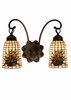 "Meyda Tiffany (18661) 14.5""W Pine Barons 2 Light Wall Sconce"