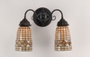 "Meyda Tiffany (74050) 14.5""W Tiffany Acorn 2 Light Wall Sconce"