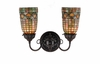 "Meyda Tiffany (74053) 14.5""W Tiffany Acorn 2 Light Wall Sconce"
