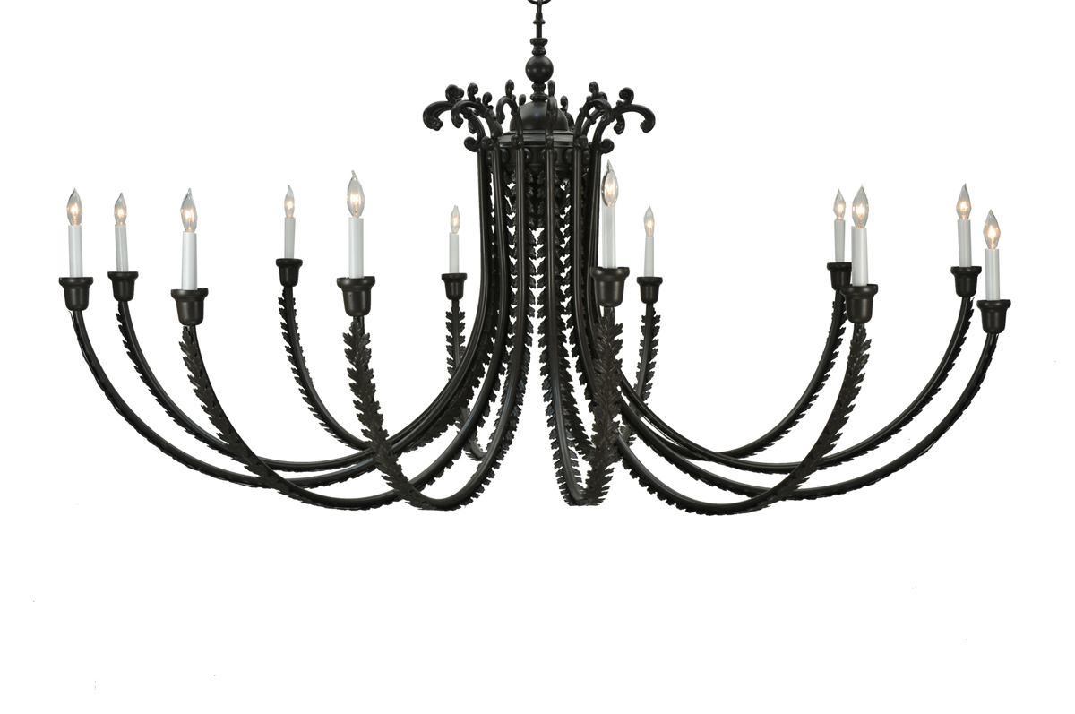 Meyda Tiffany (108852) 80 Inch Width Oak Bough 12 Light Chandelier