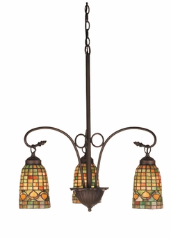 "Meyda Tiffany (73983) 20.5""W Tiffany Acorn 3 Light Chandelier"