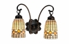 "Meyda Tiffany (18783) 14.5""W Tiffany Acorn 2 Light Wall Sconce"