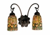 "Meyda Tiffany (18651) 14.5""W Tiffany Acorn 2 Light Wall Sconce"