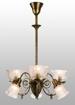 "Meyda Tiffany (50758) 26""W Bleeker Wheat Gas 6 Arm Chandelier"