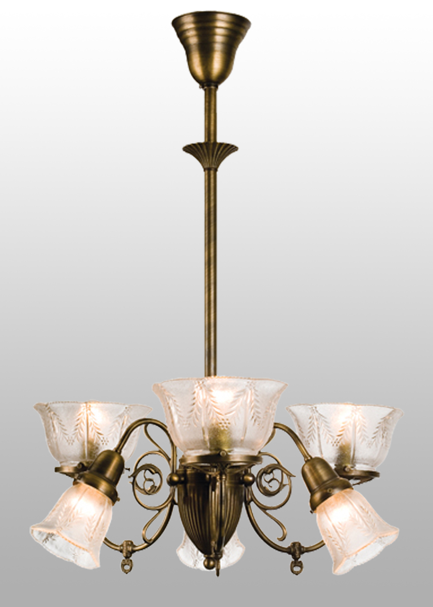 Meyda Tiffany (50758) 26 Inch Width Bleeker Wheat Gas 6 Arm Chandelier