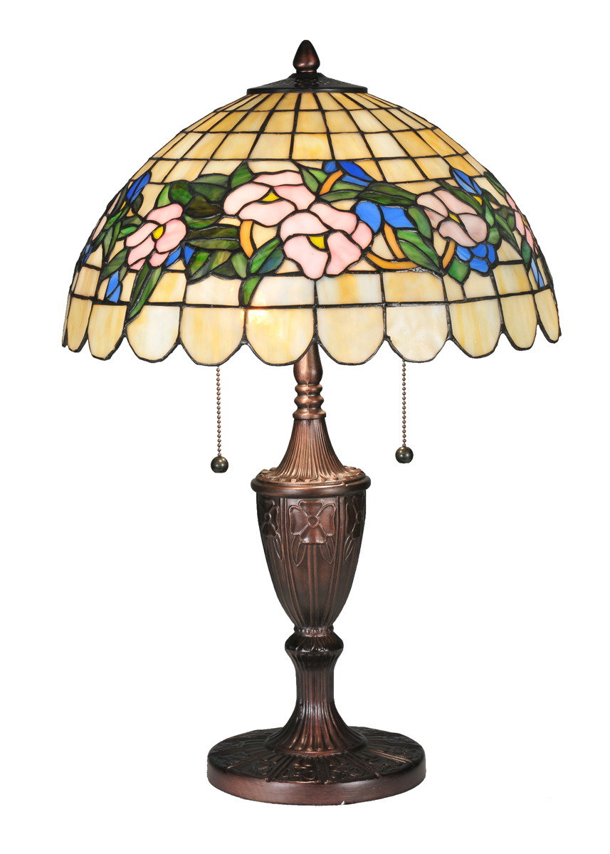 meyda tiffany 106541 24 inch height tiffany pansy table lamp. Black Bedroom Furniture Sets. Home Design Ideas