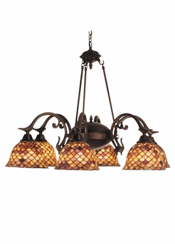 "Meyda Tiffany (81860) 32.5""W Tiffany Fishscale 6 Light Chandelier"