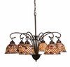 "Meyda Tiffany (18634) 31""W Tiffany Fishscale 6 Light Chandelier"