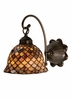 "Meyda Tiffany (18631) 8""W Tiffany Fishscale Wall Sconce"