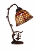 Meyda Tiffany (74046) 15 Inch Height Tiffany Fishscale Accent Lamp