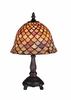 Meyda Tiffany (67378) 13.5 Inch Height Tiffany Fishscale Mini Lamp