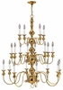 Hinkley Lighting (5127PB) Virginian 3 Tier 20-Light Chandelier in Polished Brass with Optional shade 5122BK Shade