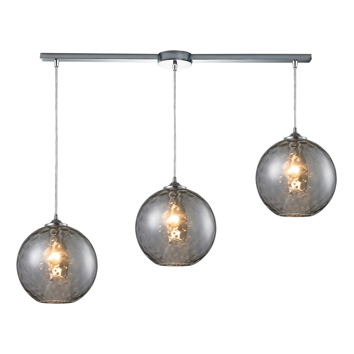 elk lighting 31380 3l smk watersphere 3 light pendant