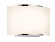 Wave 1-Light Sconce shown in Polished Chrome by Sonneman Lighting