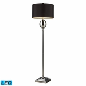 Waverly Glass & Steel Floor Lamp shown in Chrome Plated Glass by Dimond Lighting